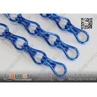 Wholesale Blue Color Aluminum Chain Fly Screen Drapery for Architectural Decorative Curtain from china suppliers