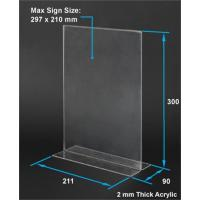 Wholesale Custom acrylic menu holders standing sign holder stand from china suppliers