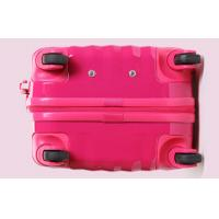 Quality Fashionable Pink Mirror Surface Womens Trolley Luggage Bags with Aluminum Alloy Rod for sale