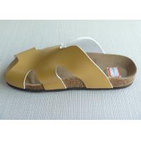 Quality Peep Toe Men Cork Sandals , Yellow 39-46 Size Casual Summer for sale
