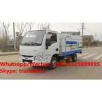 Wholesale Factory sale good price Shangqi Yuejin 4*2 LHD gasoline smallest street sweeping vehicle,smallest road sweeper truck from china suppliers