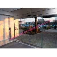 Fully Glazed Overhead Sensor Doors Glass Facade Opening Sliding Doors Automatic