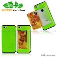 Buy cheap Moden card box for iphone 5g/5s,PC+Silicone material,colors,anti-shock,various models from wholesalers