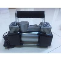 Wholesale Two Cylinder Strong Inflator Car Air Pump Steel Material , Clip Or Cigarette Lighter Power from china suppliers