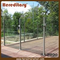 Wholesale Semi Frameless Glass Pool Fencing with Round Post Aluminium (SJ-F020) from china suppliers