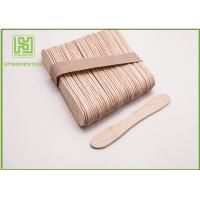 Wholesale Disposable Lolly Pop Ice Cream Wooden Sticks , 114mm Natural Wooden Sticks from china suppliers