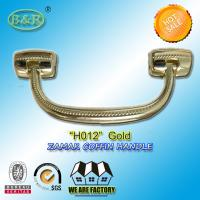 Quality Size 18.7*7.6 cm Casket Hardware metal coffin handle Ref No H012 zinc alloy gold color for sale