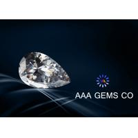 Wholesale 1.5 Carat Pear Cut Moissanite Colorless , Lab Created Moissanite from china suppliers