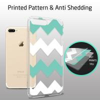 Chevrons Clear Hard Apple Cell Phone Cases Back Panel Integrated Soft TPU Bumper