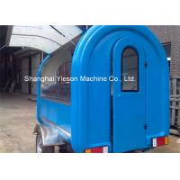 Customs Mobile Fiberglass Concession Trailers Fast Food Trucks Crepes