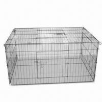 Wholesale Metal pet cage, Dog Cage with No Sharp Edges, Nontoxic Coating Metal and Easy to Assemble from china suppliers