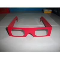 Wholesale Anaglyphic Stereoscopic Chromadepth 3D Glasses , Red Cardboard 3D Glasses from china suppliers
