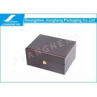Wholesale Brown Keepsake Personalised Wooden Box Packaging For Perfume / Watch / Gift from china suppliers