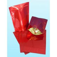 Wholesale Glossy Plain Red Foil Pouch Packaging Stand Up For Coffee Bean from china suppliers