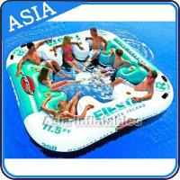 Wholesale Inflatable Floating Island Float Lounge , Inflatable Water Floating Games For Leisure from china suppliers