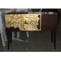 Wholesale Custom Unique Wooden Consoles , Mahogany Finished Half - Circular Table from china suppliers