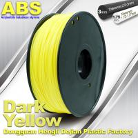 Wholesale Dark Yellow ABS  Filament ,  Filament 3D Printing Plastic Material 1.75 / 3mm from china suppliers