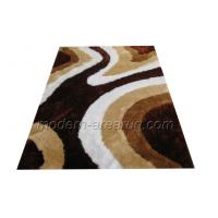 Wholesale Contemporary Design Beige / Coffee Polyester 150D Soft Silky Shaggy Rug With OEM Pattern from china suppliers