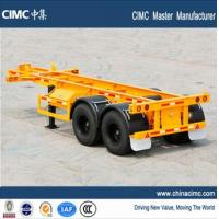 Wholesale CIMC tri-axle 30 tons 20 foot skeletal container chassis trailer from china suppliers
