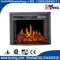 "Wholesale 23"" insert electric fireplace heater curved front log LED flame effect EF-30A remote control built-in electric stove from china suppliers"