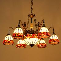 Buy cheap Multicolor glass lampshade living room pendant light (DL2024) from wholesalers