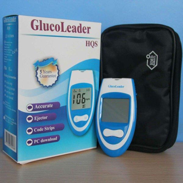 HQS Blood Glucose Monitoring Tester Glucometer Sugar Meter For Diabete Set
