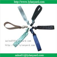Wholesale Fold Over Polyester Customized Elastic Knotted Fabric Hair Tie For Girl from china suppliers