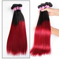 Wholesale Soft 7A Ombre Brazilian Virgin Hair 1B / Red Straight Ombre Hair 3 Bundles For Adult from china suppliers