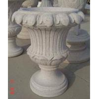 Wholesale Garden decoration stone flowerpot, Light Grey Granite Sculpture from china suppliers