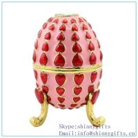 Wholesale Violet Faberge Inspired Egg, discount Oeuf Bleu Faberge Inspired Egg on sale SCJ1013 from china suppliers