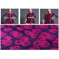 Quality 560g/M Vintage Rose Print Fabric , Roll Dyed Wool Print Fabric Anti Static for sale