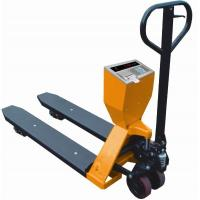 Wholesale Yellow 2t Capacity Pallet Weight Scale , Hand Pallet Truck With Weighing Scale from china suppliers