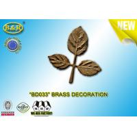 Quality Ref No BD033 Brass Leaf Tombstone Decoration Bronze Leaves Material Copper Alloy for sale