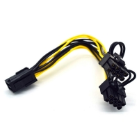 Wholesale Dual 8Pin Adapter 30cm Power Supply Extension Cable For Computer Graphics Card from china suppliers