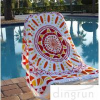 Wholesale Cotton Custom Printed Beach Towels , Large Size Family Beach Towel 60 Inch from china suppliers