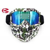 Wholesale Camouflage Full Face Mask Motorcycle Safety Glasses , Protective Cool Motorcycle Goggles from china suppliers