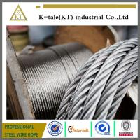 Quality ISO9001 Supply High Strong A2 A4 SUS304 316 Stainless Steel Wire Rope  7*19 4mm for sale