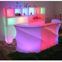 Wholesale Rechargeable LED Bar Counter Multi Color Changing Beach Event Club Outdoor Bar Counter from china suppliers