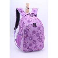 Wholesale Zipper Purple Floral Backpacks For Teenage Girls Double Shoulders OEM from china suppliers