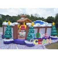 Wholesale 8 X 8m Large Christmas Inflatable Playground Inflatable Snowman Bouncy Castle from china suppliers