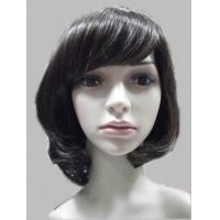 Wholesale OEM Black Wavy Petite Hair Synthetic Full Lace Wigs With Bangs 140g / Piece from china suppliers