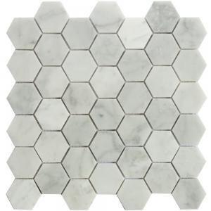 Buy cheap Carrara white Hexagon mosaic tile  2