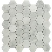 Buy cheap Carrara white Hexagon mosaic tile  2