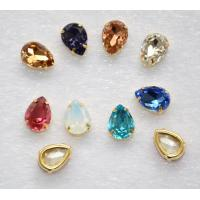 Wholesale Flat Back Sew on Rhinestones teardrop 13*18mm Crystal Glass Stone Beads for Clothing Decoration from china suppliers