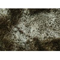 Wholesale 100% Polyester Fleece Fabric , Super Soft Fleece Fabric Brown Color from china suppliers