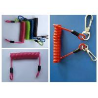 Quality 1 - 1.5m  Heavy Duty Spring Steel Safety Tool Lanyards With Strip Hooks for sale