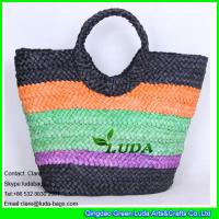 Buy cheap LDYP-005 striped colored tote bag cornhusk straw hobo beach bags from wholesalers