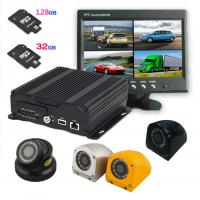 Wholesale AHD Four in one 4 cameras Dual SD Card Mobile DVR with 3G / 4G GPS WIFI , 1080P resolution from china suppliers