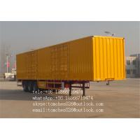 Wholesale Dry Cargos Transport Box Semi Trailer , Van Type cargo truck trailer from china suppliers