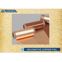 Wholesale With Maximum Width 400mm In Roll Size for Electric Spring Decorative Copper Foil from china suppliers